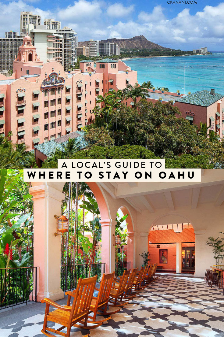 A local's guide to where to stay on Oahu Hawaii! The best luxury and boutique hotels on Waikiki Beach, in Honolulu, on the North Shore, and in Ko Olina. #oahu #travel #accommodations