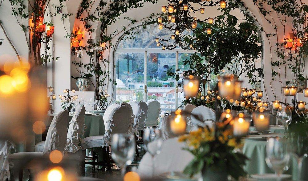 La Sponda restaurant at Le Sirenuse