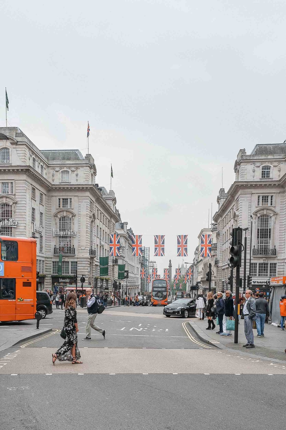 The best 3 days in London itinerary includes time to walk around beautiful Regent Street