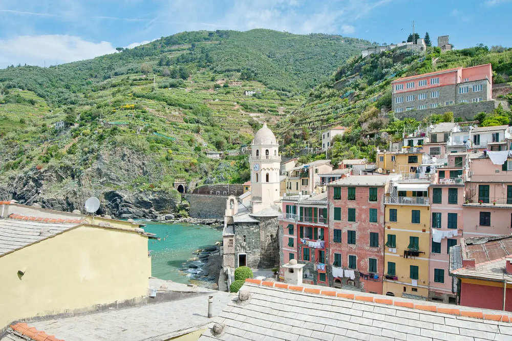 B&b views in Vernazza, the second northernmost of the Cinque Terre towns