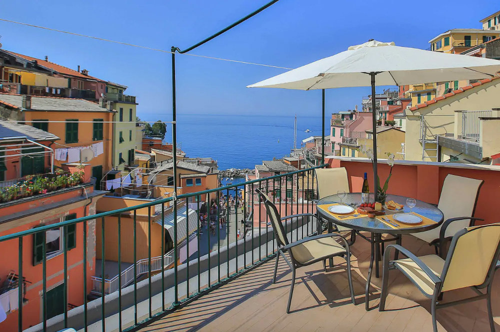 The best place to stay in Cinque Terre. Can you believe the sea view from this private terrace?