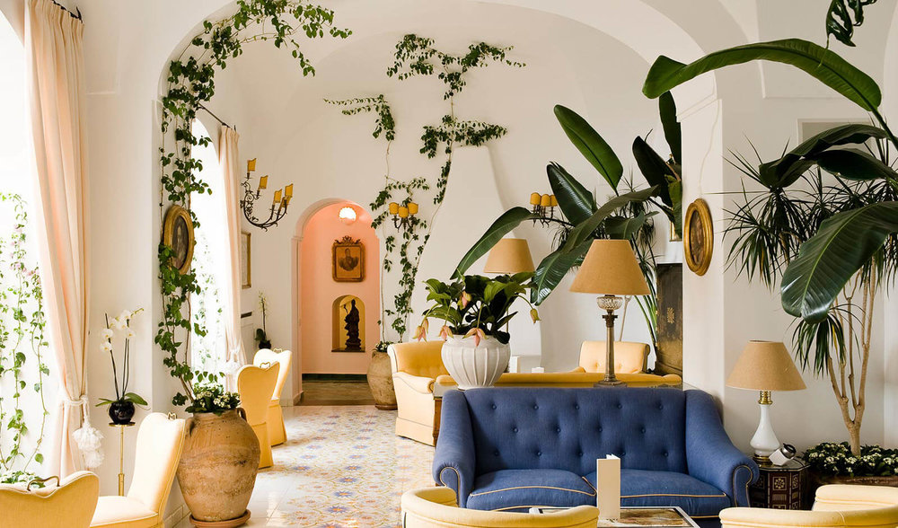 One of the best Positano luxury hotels, Le Sirenuse. A bit of a splurge but worth it!