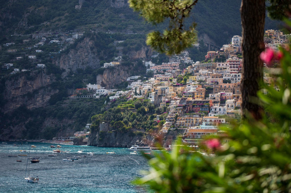 Iconic views of Positano from Villa Treville