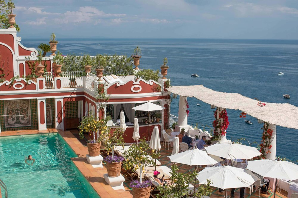 Positano hotels with pool - the beautiful Le Sirenuse
