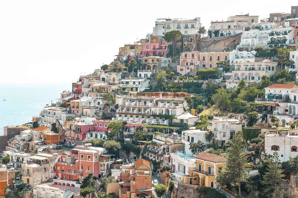 7 day Europe itinerary: Positano, Amalfi Coast and London