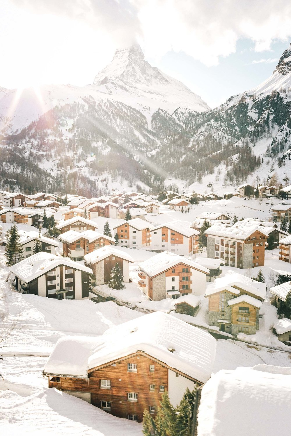 Zermatt and Gstaad in Switzerland make for the perfect one week Europe trip