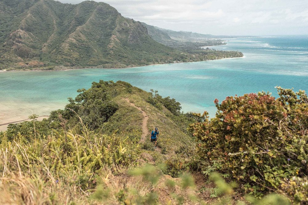 The first view point during the Crouching Lion Hike Oahu