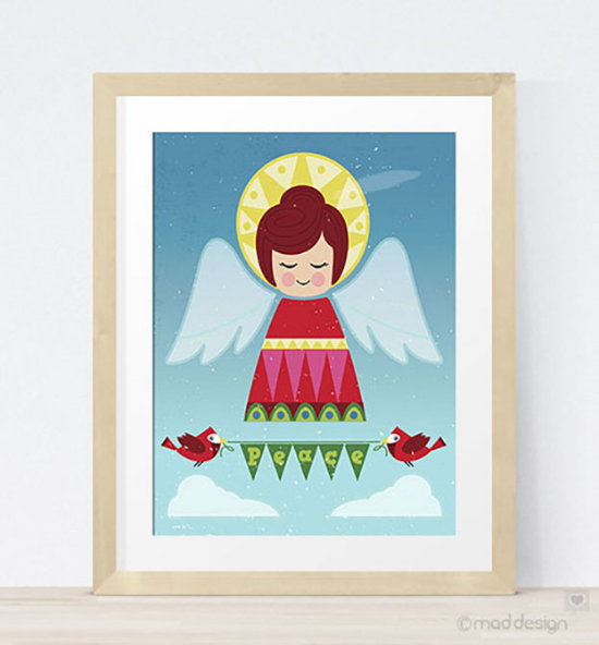 Fun new Peace Angel art print