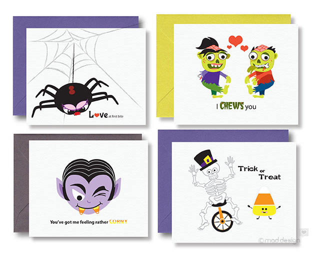 Fun Halloween cards available in my shop