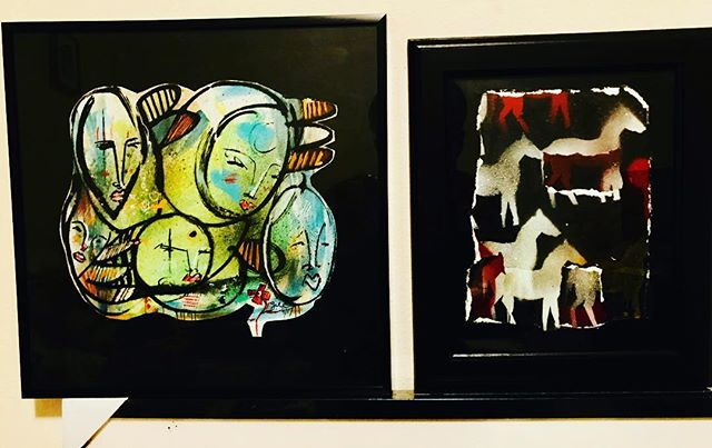 "Two pieces that are available if interested. Left to right ""Aquatics"" and ""Wyoming"". Both mixed media. Canvas and on the left paper collage. If you want to add/start your collection please message me. Hope everyone is good. #johnmichaelgill #johnmichaelgillart #originalart #galleryart #mixedmedia #graffiti #streetart #art #painting #seattlesrt #LAart #juxtapoz #style #fashion #collectible #collectart #artcollector #newart #image #galleryart #music #visual #fashion #muralist #robot #demon #good #evil #addiction #watercolor #character3 #music"