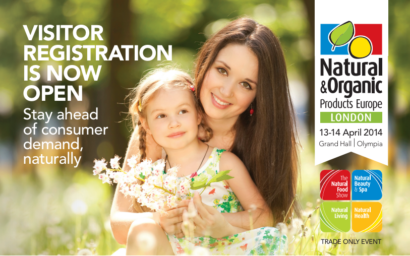 Register for your FREE* ticket at www.naturalproducts.co.uk *Quote priority code NPEG23