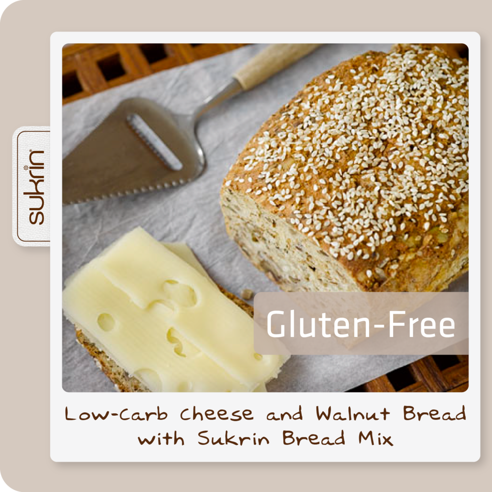 Social media Bread Mix pack2 1081 Low-carb Cheese and walnut bread with Sukrin Bread Mix.png