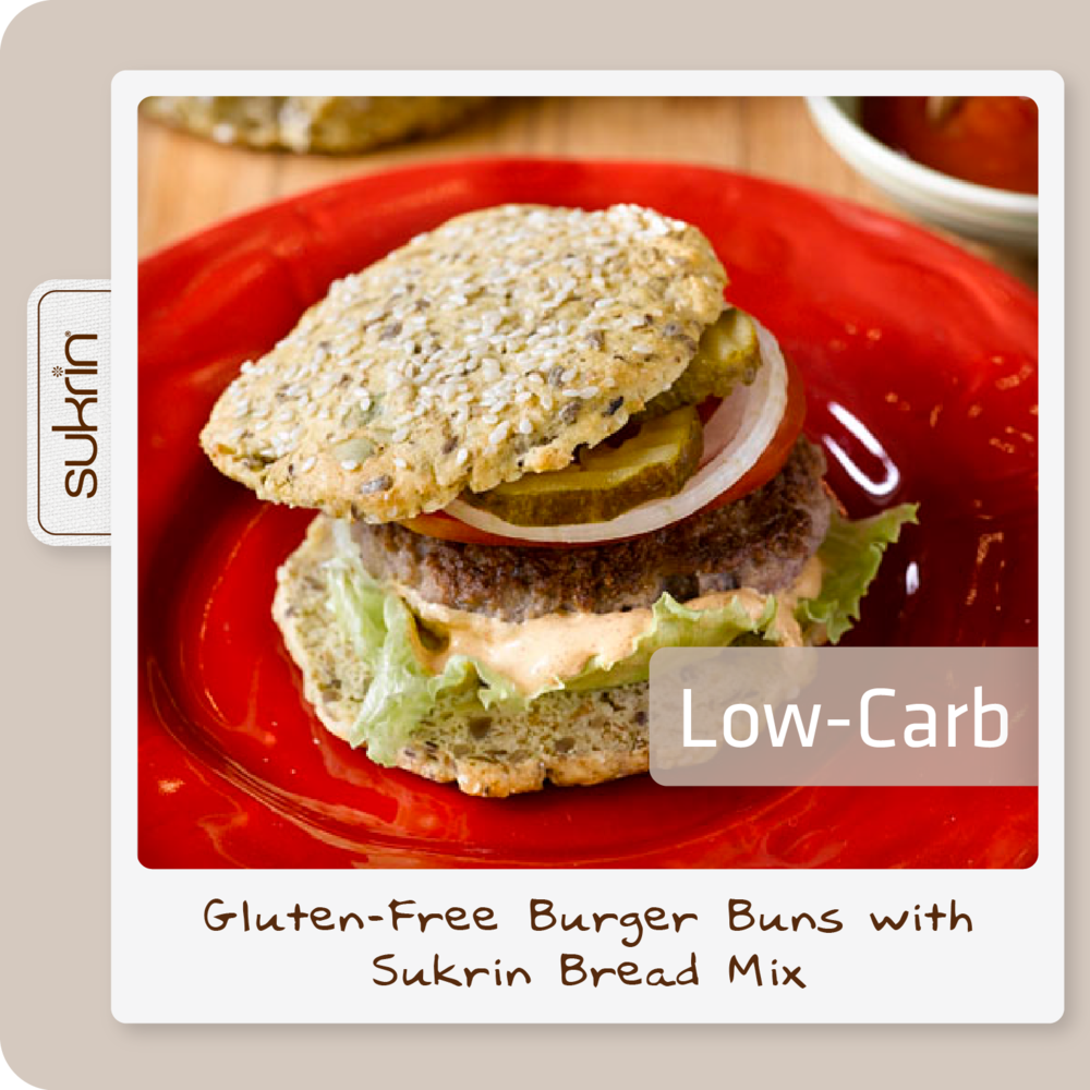 Social media Bread Mix pack2 1083 Low-carb Burger buns with Sukrin Bread Mix.png