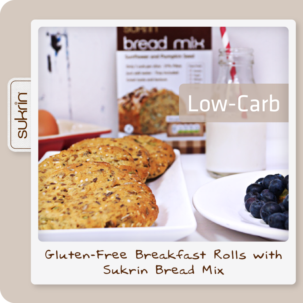 Social media Bread Mix pack2 1088 Low-carb Breakfast Rolls with Sukrin Bread Mix.png
