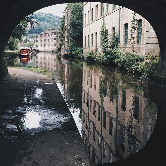 Dark stone, green hills and old industrial canals: This is the dream. Take us back to Hebden Bridge, please!