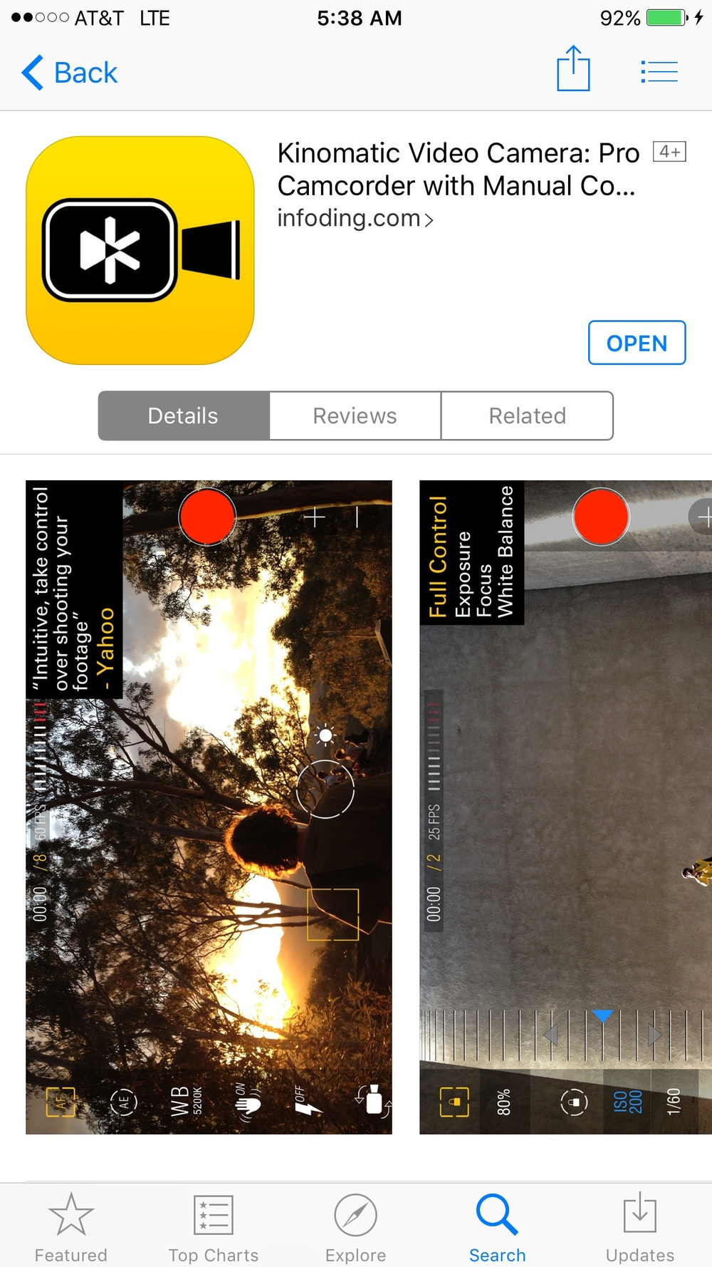 Kinomatic iOS app
