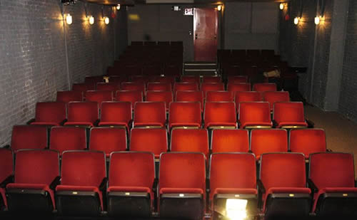"Lion Theatre Seating Capacity: 88 Stage Dimensions: 22' wide × 16'10"" deep"