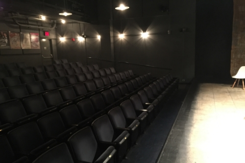 Beckett Theatre Seating Capacity: 99 Stage Dimensions: 34' wide × 21' deep