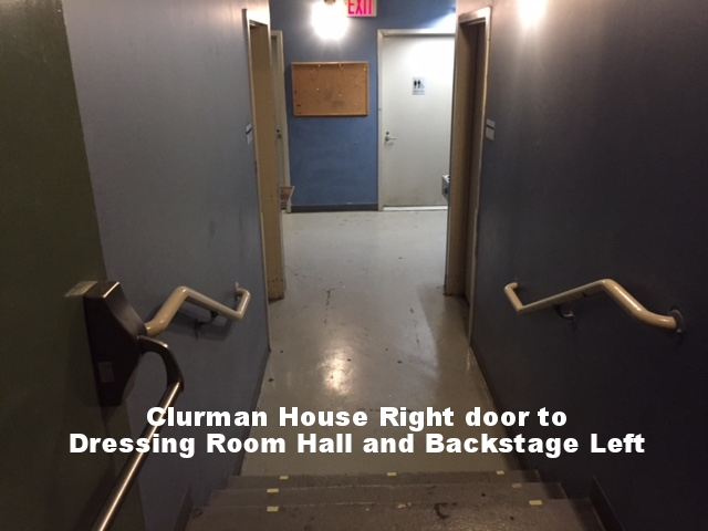 Clurman HR Door to Backstage.JPG