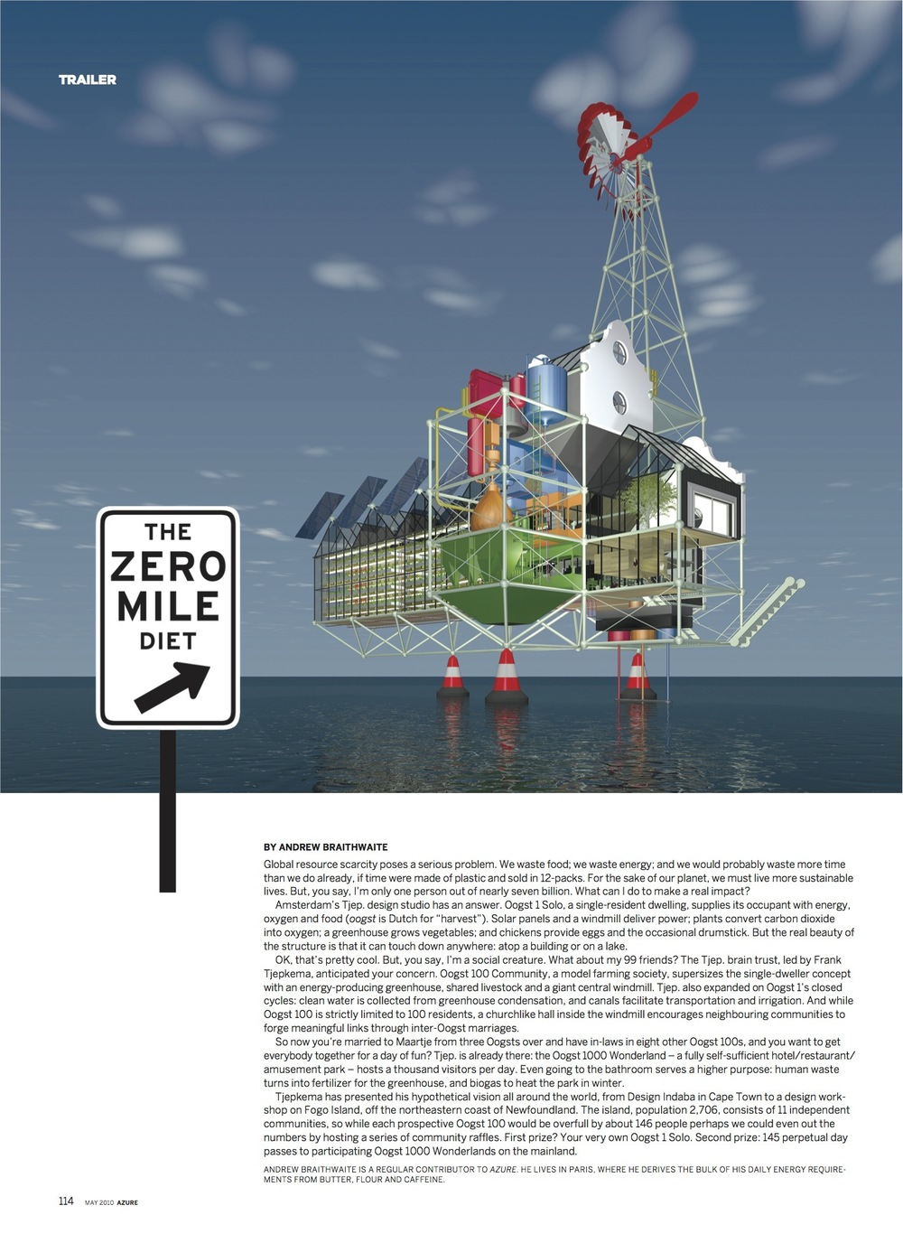 The Zero Mile Diet  //  Azure  //  2010  //  pdf