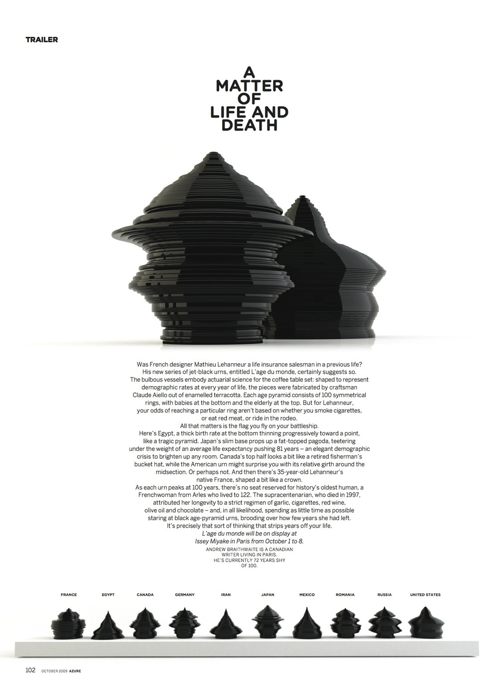 A Matter of Life and Death  //  Azure  //  2009  //  pdf