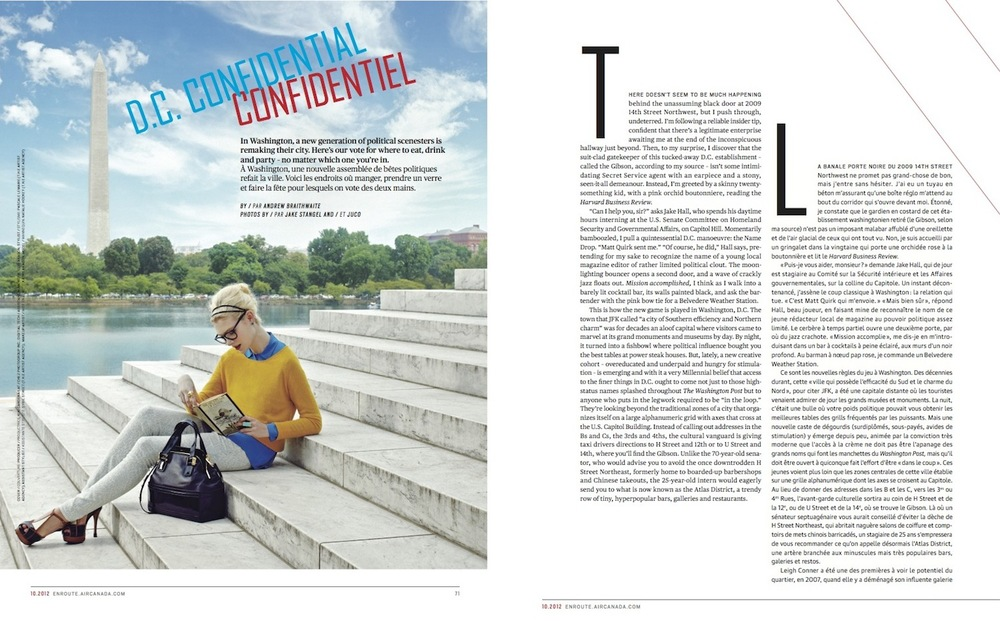 D.C. Confidential  //  enRoute  //  2012  //  pdf   (National Magazine Awards nominee)