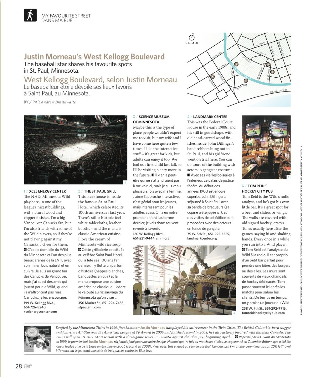 Justin Morneau's West Kellogg Boulevard // enRoute // 2011 // web