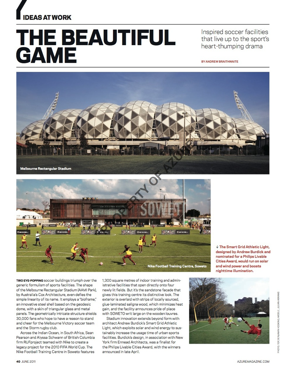 The Beautiful Game  //  Azure  //  2011  //  pdf
