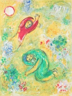 Trampled Flowers  by Marc Chagall