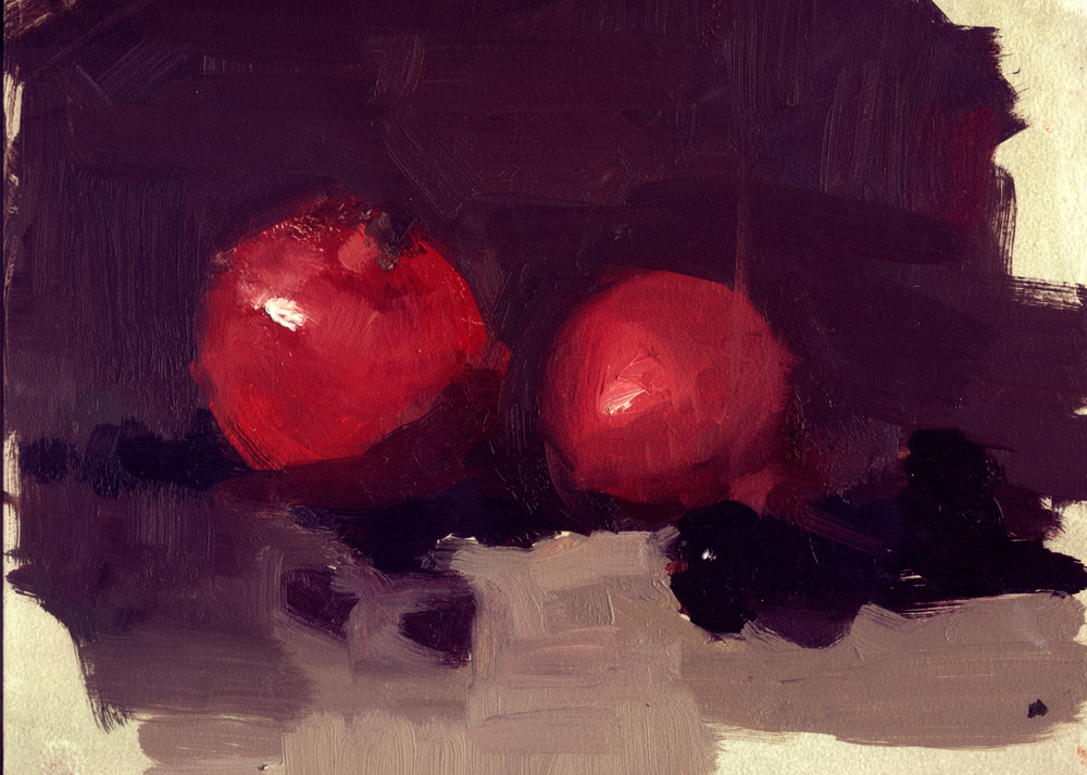 red pomegranates