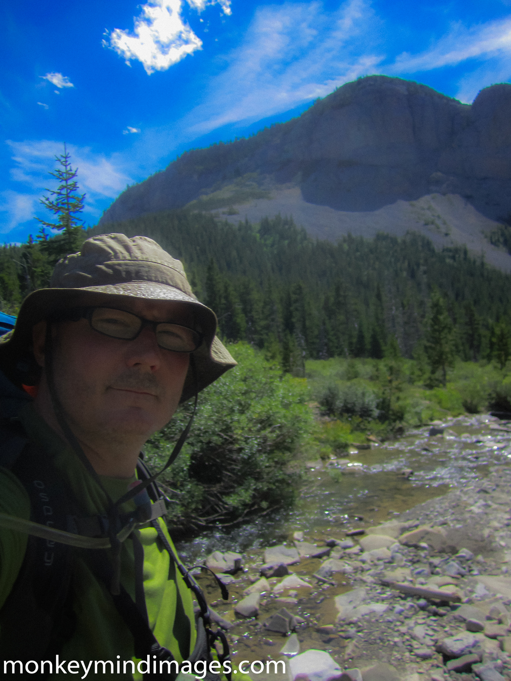 About to traverse the Gateway Gorge to Strawberry Creek. A fine day.