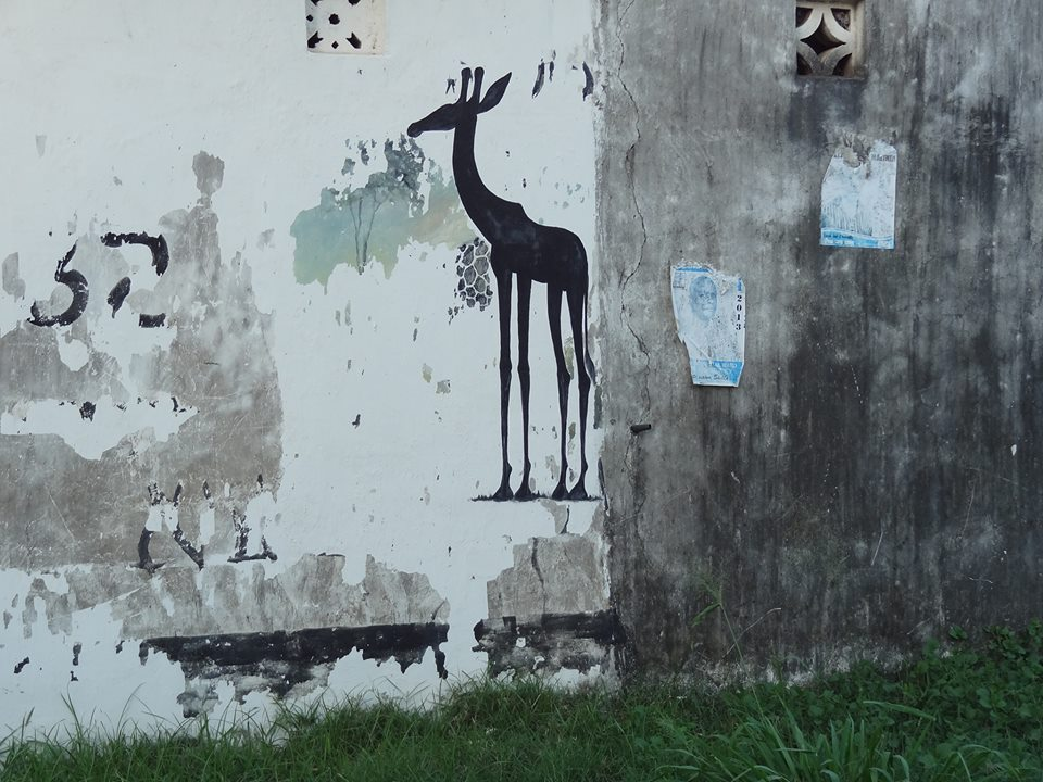Street art from the coast of Kenya.