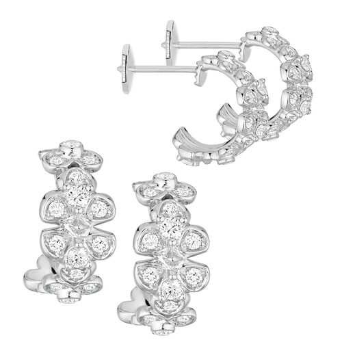 Chaumet Hortensia white gold and diamond hoop earrings — Hartfield