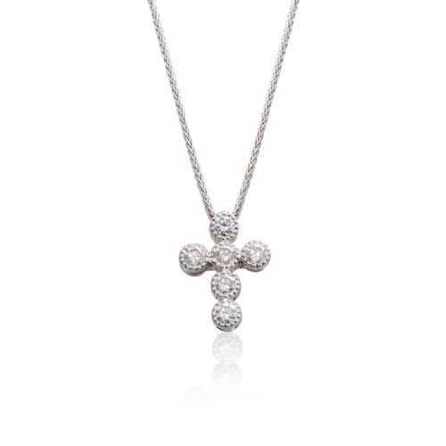 Piero milano cross diamond pendant hartfield jewellers luxury piero milano cross diamond pendant aloadofball Gallery