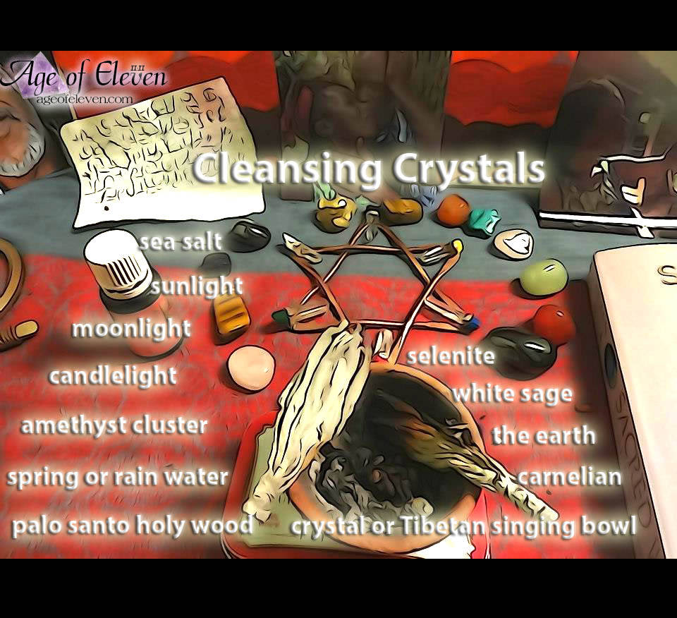 Various ways to clean, cleanse and energize crystals.