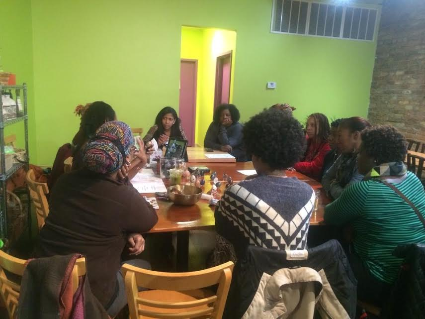 The circle of women at one of my recent Yoni Egg Womb Wellness Workshops at B'Gabs Goodies