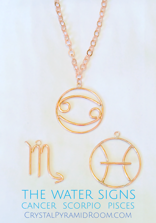 Age of Eleven Zodiac Glyph Pendants