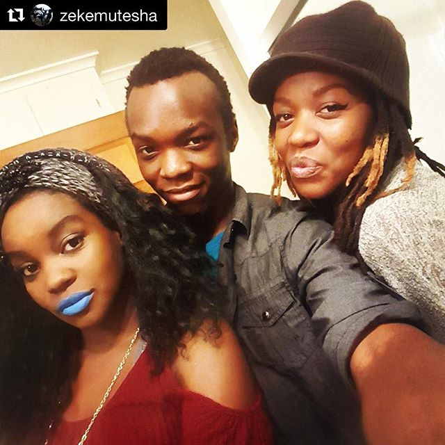 Loving my lil bro and sis omg.  #melaninmagic #zambian #indigenous #og #flyAF #fam 🇿🇲 #Repost @zekemutesha with @repostapp ・・・ Just had to get a pic with these lovely ladies on this rare occasion where we're all together #thanksgiving #family #siblings