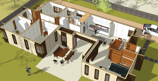 House Plan Central Courtyard