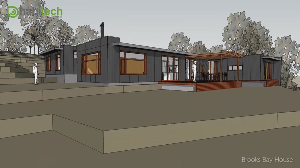 Design animation brooks bay house tasmania habitech for Tasmanian home designs