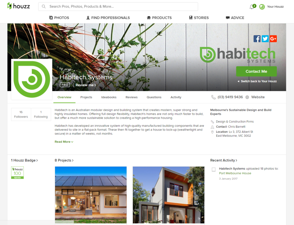 Habitech_Houzz_Profile