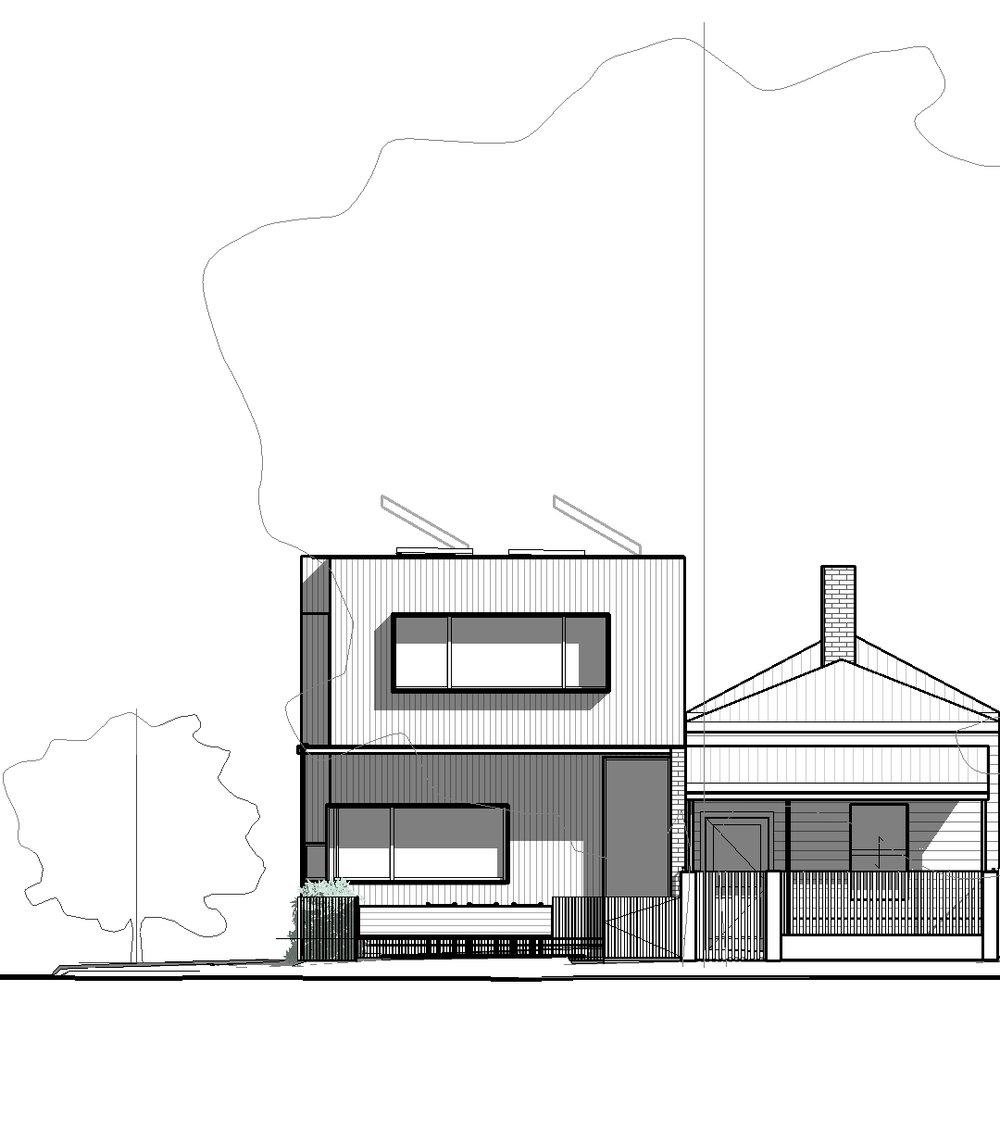 2017 Port Mebourne House Marketing - Elevation - Proposed South Elevation Marketing.jpg