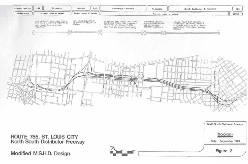 "Booker Incorporated Engineers, Architect & Planners.  ""Analysis of Selected Engineering and Environmental Factors, Route 755.""  City of Saint Louis, 1979."