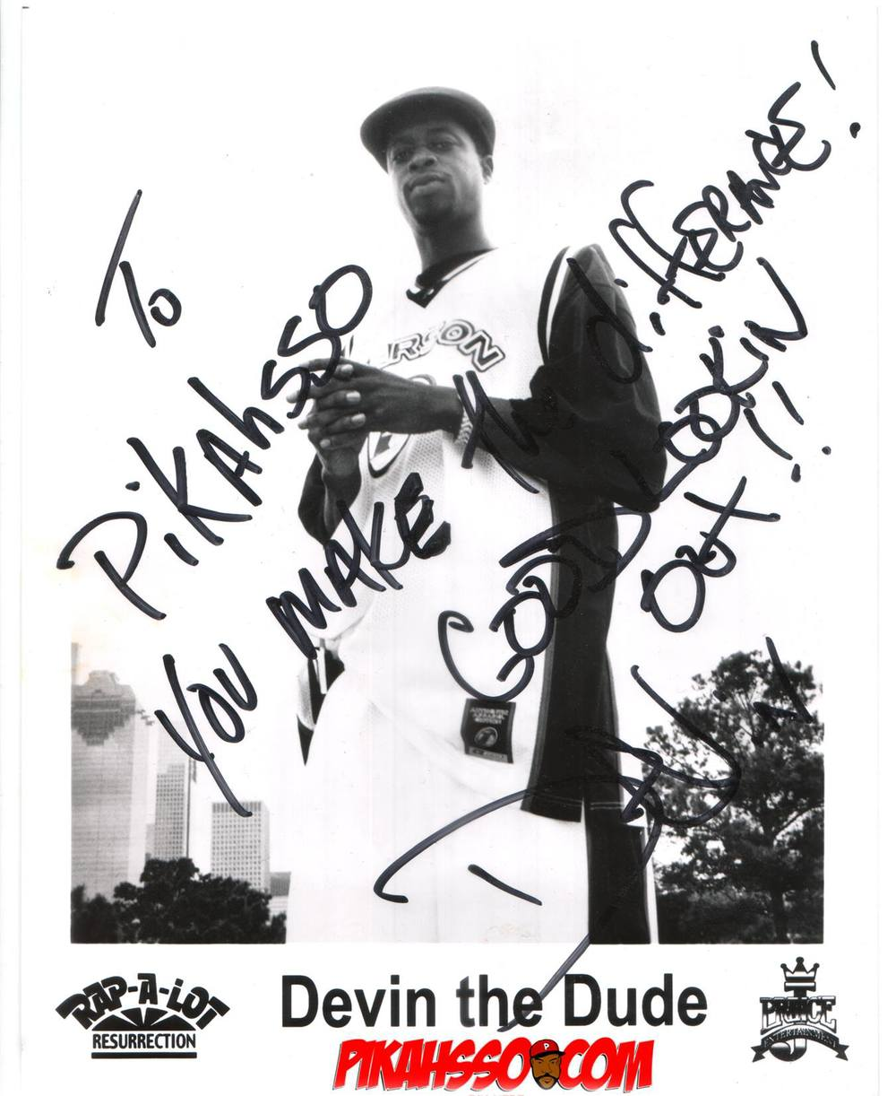 rare devin the dude autograph 1993 1994 pikahsso