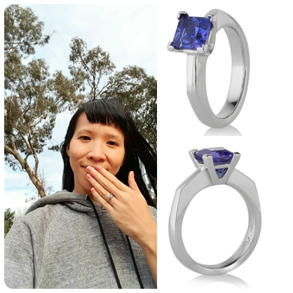 Claudi helped me take a sentimental and beautiful tanzanite stone and set it in the ring of my heart. She worked closely with me to render my vision first into sketches, then different wax models, and finally the stages of a stunning platinum ring. Claudi shares my love of minerals and gemstones, and it was a total joy to meet with her on such a personal project. Thank you Claudi, I'll be seeing you again soon!  SERENA