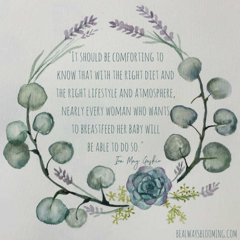 ina may gaskin quote breastfeeding lifestyle doula birth