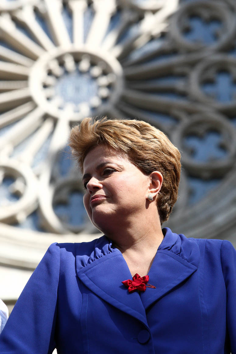 São Paulo, 07/07/2010, presidenta Dilma Roussef em campanha eleitoral da praça da Sé