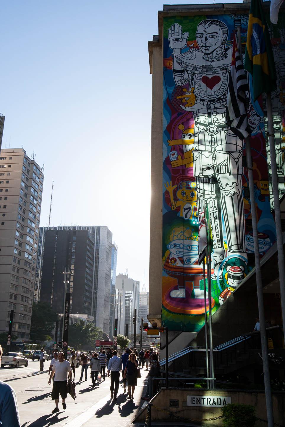 Grafite na av. Paulista