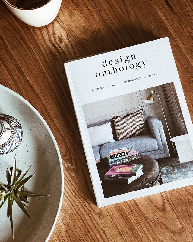 Being home sick means catching up on my kind of reading which usually involves a periodical and I'm so excited to have found this one! Had to stop myself from reading the whole thing in one sitting. #designanthology