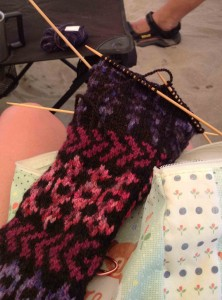 handknit socks by Cate Carter-Evans
